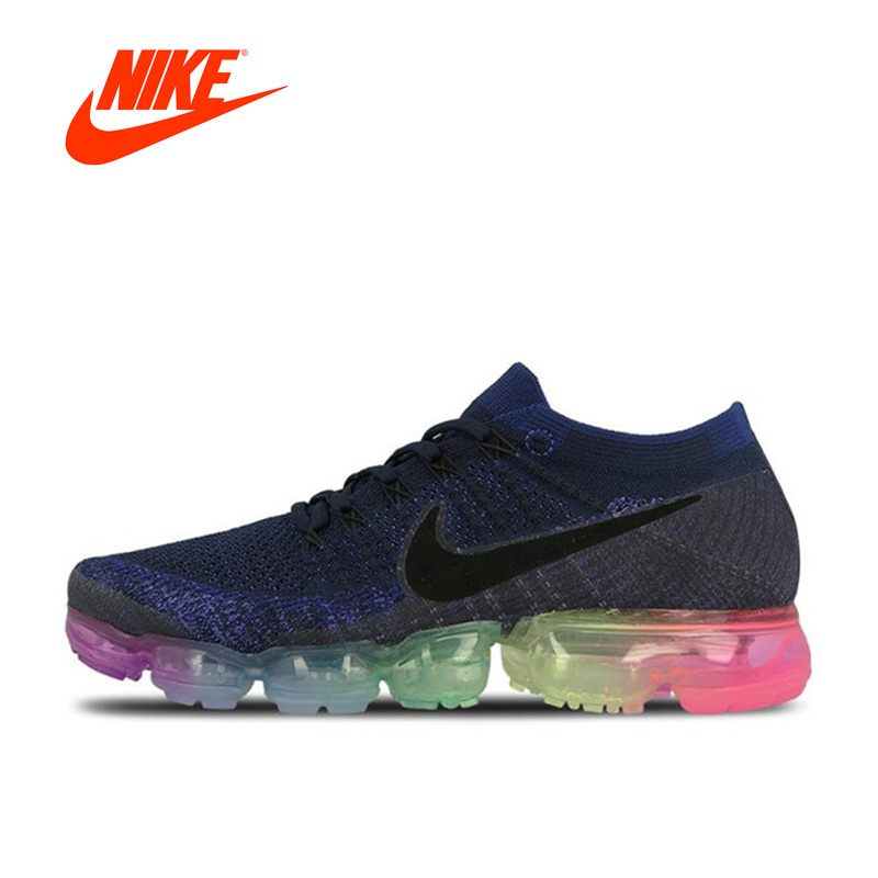 meet c6ded ef598 Original Official Nike Air VaporMax Be True Flyknit Breathable Men s  Running Shoes Sports Sneakers Athletic Mesh New Arrival