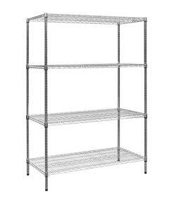 Modular Chrome Wire Storage Shelf 1200 x 600 x 1800 Steel Shelving