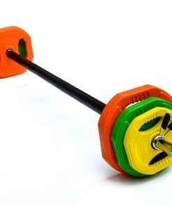 20kg Standard Rubber Coloured Barbell