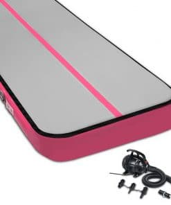 Everfit 8MX1M Airtrack Inflatable Air Track Tumbling Mat with Pump Gymnastics Pink