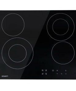 Devanti 6300W Four Burner Ceramic Cooktop - Black