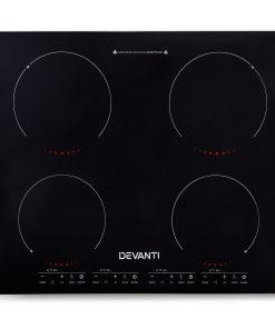 Devanti Ceramic Electric Induction Cook Top Stove- Black