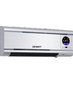 Devanti 2000W Wall Mounted Panel Heater - Silver