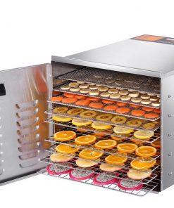 DEVANTI Food Dehydrator 304 Stainless Steel 10 Trays 1000W