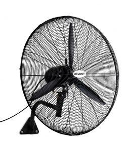 Devanti Industrial Wall Mounted Fan – Black