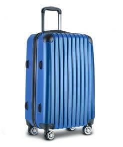 Wanderlite 28inch Lightweight Hard Suit Case Luggage Blue