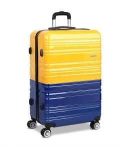 Wanderlite Lightweight Hard Suit Case Luggage Yellow & Purple