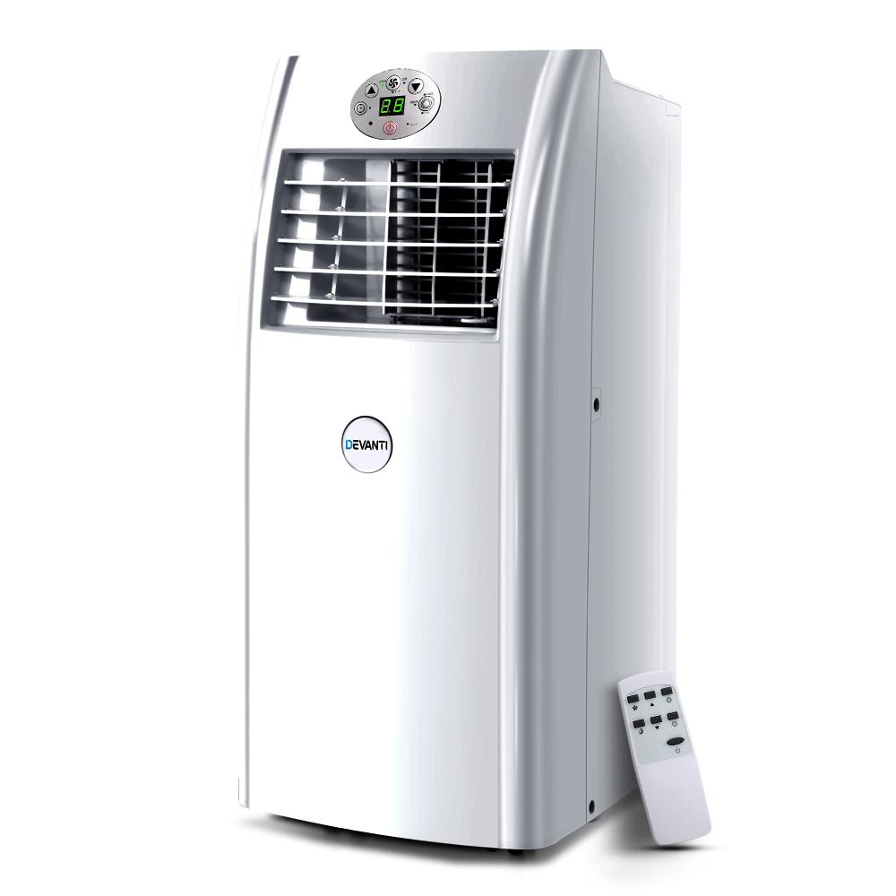 Devanti Portable Air Conditioner 4-In-1 Mobile Fan Cooler Dehumidifier 18000BTU
