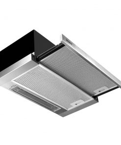 DEVANTi Rangehood Range Hood Stainless Steel Kitchen Canopy 600mm Black