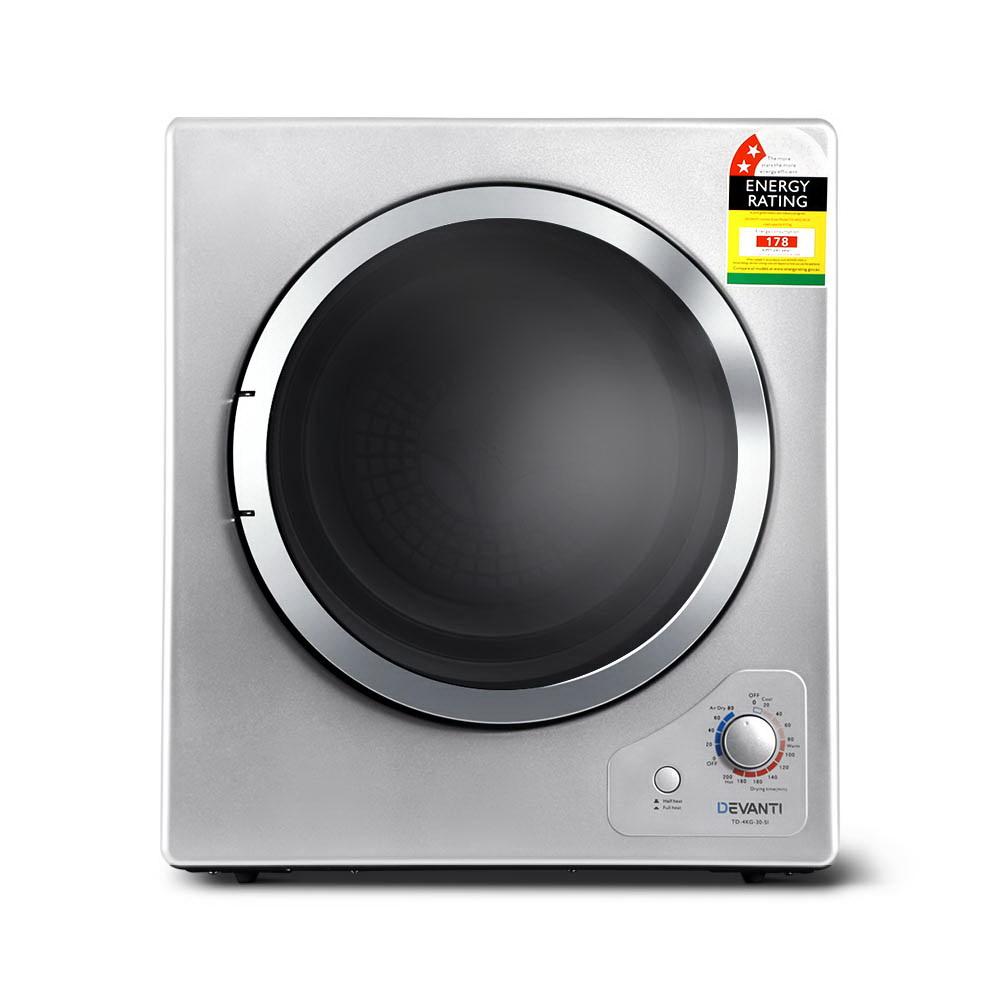 Devanti 4kg Tumble Dryer Clothes Dryer Machine Air Vented Front Load Wall Mount