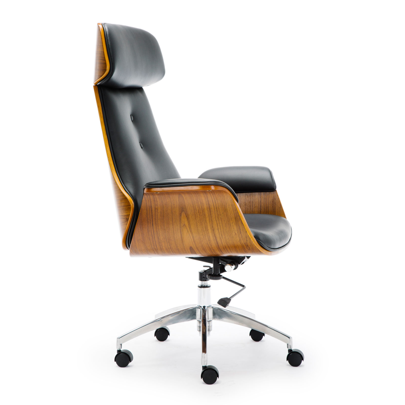 Wooden Pu Leather Office Chair
