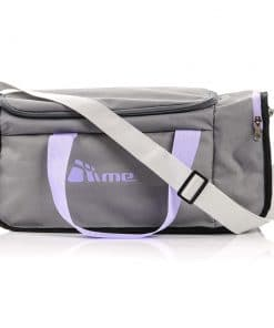 20L Foldable Gym Bag (Grey / Violet)