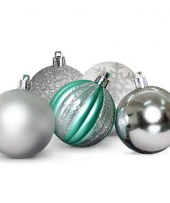 JingleJollys 50pcs Christmas Baubles Decorations Xmas Tree Ornament Party Silver