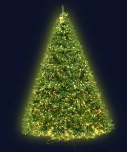 Jingle Jollys 2.4M 8FT Christmas Tree 1488 LED Lights 1488 Tips Warm White Green