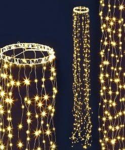 Jingle Jollys 3M Christmas Curtain Fairy Lights String 480 LED Party Wedding