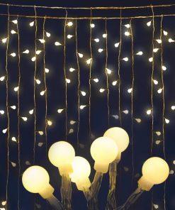 Jingle Jollys 300 LED Curtain Lights - Warm White