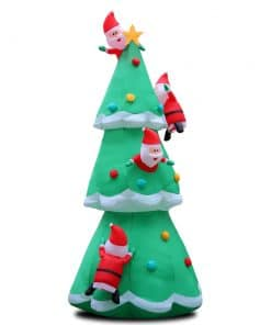 Jingle Jollys 5M Christmas Inflatable Santa on Christmas Tree Xmas Decor LED