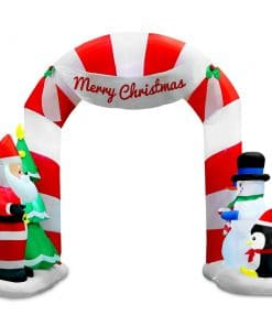 Jingle Jollys 1.8M Christmas Inflatable Archway with Santa Xmas Decor LED