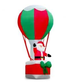 Jingle Jollys 3.6M Christmas Inflatable Santa on Air Balloon Xmas Decor LED