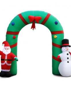 Jingle Jollys 2.8M Christmas Inflatable Giant Arch Way Santa Snowman Light Decor