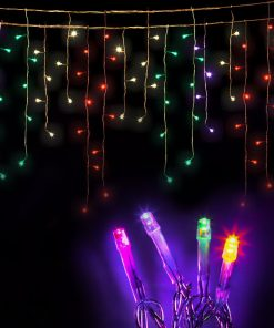 500 LED Solar Powered Christmas Lights 20M Multiple Colour