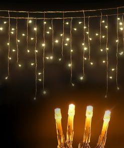 500 LED Solar Powered Christmas Lights 20M Warm White