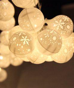 Jingle Jollys Christmas Snowflake Festoon String Lights 50LED Warm White