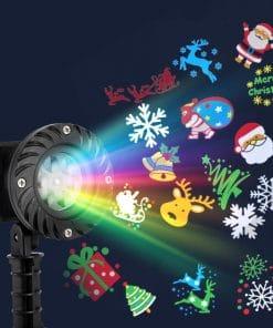 Jingle Jollys Pattern LED Laser Landscape Projector Light Lamp Christmas Party