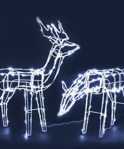 Jingle Jollys Christmas LED Motif Lights Rope Reindeer Waterproof Solar Powered