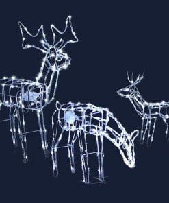 Jingle Jollys Christmas LED Motif Lights Rope Reindeer Waterproof Outdoor