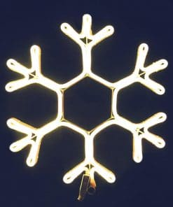 Jingle Jollys Christmas LED Motif Lights Rope Snowflake Warm White