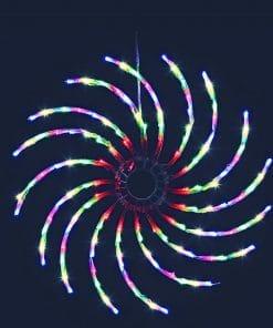 Jingle Jollys Christmas Lights Motif LED Spinner Light Waterproof Colourful