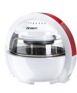 Devanti 13L Air Fryer Oven Cooker - White & Red