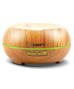 Devanti 200ml 4 in 1 Aroma Diffuser - Light Wood