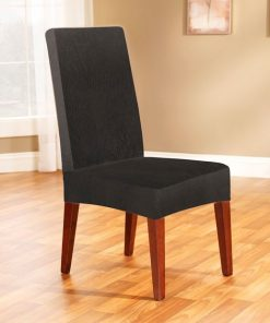 Pearson Dining Chair Cover in Ebony by Sure Fit