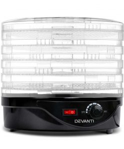 Devanti Food Dehydrator with 5 Trays - Black
