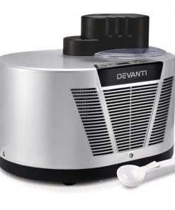 Devanti Self Cooling Ice Cream Maker - Silver