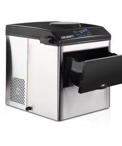 DEVANTi 2 in 1 Portable Commercial Ice Cube Maker Machine Water Dispenser