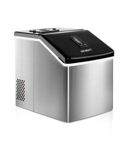 DEVANTi 3.2L Portable Ice Cube Maker Cold Commercial Machine Stainless Steel