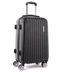 Wanderlite 20inch Lightweight Hard Suit Case Luggage Black