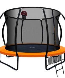 Everfit 10FT Trampoline With Basketball Hoop - Orange