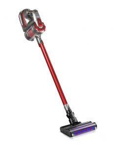 Devanti 150W Stick Handstick Handheld Cordless Vacuum Cleaner 2-Speed with Headlight Red