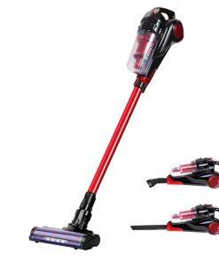 Devanti Cordless Handstick Vacuum Cleaner - Black and Red