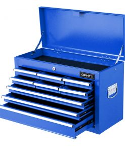 Giantz 9 Drawer Mechanic Tool Box Storage Chest - Blue
