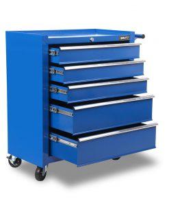 Giantz 5 Drawer Mechanic Tool Box Storage Trolley - Blue