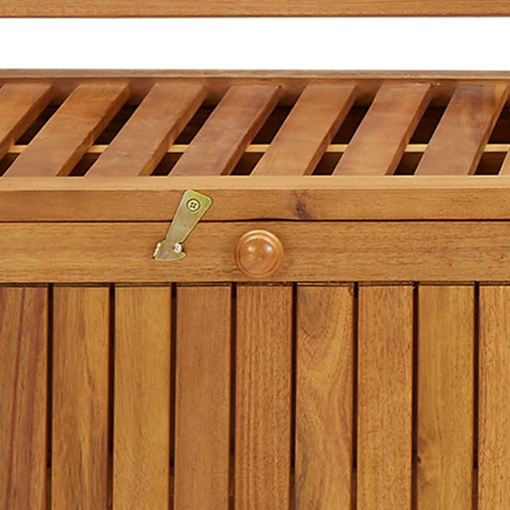 vidaXL Garden Storage Bench 170 cm Solid Acacia Wood ...